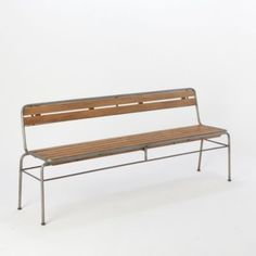 Slatted Mahogany Bench in House+Home FURNITURE Seating at Terrain $398