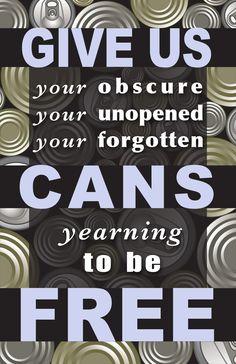 Canned Food Drive Promotional Poster, Adobe Illustrator, 2013 Marguerite Krommes