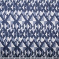 Tricot Jacquard Triangle Blue