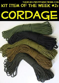 Kit Item of the Week #2: Cordage. There is more to life than paracord.