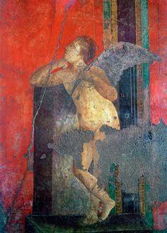 Pompéi, Villa des Mysteres, Triclinium (chambre) : scène d'initiation aux…