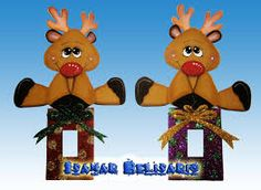 Resultado de imagen para adornos de navidad para ventanas de fomi Christmas Door Decorations, Christmas Crafts, Christmas Ornaments, Holiday Decor, Cute Crafts, Crafts To Sell, Candy Bouquet, Foam Crafts, Switch Plates