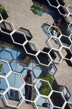 #architecture #hexagon #india #building