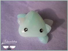 Ice Spirit Charm Kawaii Handmade Polymer Clay by Adacadabra