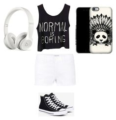 """""""black and white"""" by xx-secret-xx on Polyvore featuring Frame Denim, Converse and Beats by Dr. Dre"""