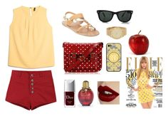 """Be hot in a hot day"" by strawberyjam ❤ liked on Polyvore featuring Ancient Greek Sandals, MANGO, FC Select Vegan Bags, Christian Dior, Charlotte Tilbury, Ray-Ban, Michael Kors and Louis Vuitton"