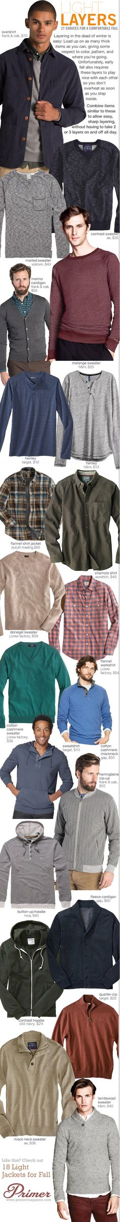 Light Layers: 21 Choices for a Comfortable Fall - Primer