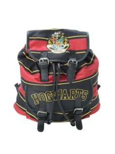 Harry Potter Gryffindor Stripe Slouch Backpack