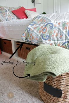 3 Tips for How to Style a Bed | http://www.domesticcharm.com/3-tips-for-how-to-style-a-bed/