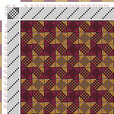 draft image: Figurierte Muster Pl. XXI Nr. 4, Die färbige Gewebemusterung, Franz Donat, 8S, 8T
