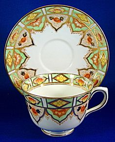 Cup And Saucer Imari Lime Green Gold Taylor And Kent. Please click the image for more information.