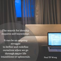 The search for identity requires self knowledge. Applied Psychology, Life Transitions, Self Discovery, Self Help, Meant To Be, Identity, Spirituality, Knowledge, Social Media