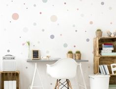 Wall Decal Nursery Dots Old Pink Mint Grey, Wall Sticker Circles, Baby Room Wall Decor Set Green Wall Stickers, Wall Stickers Circles, Wall Stickers Animals, Kids Wall Decals, Nursery Wall Decals, Baby Room Wall Decor, Wall Decor Set, Pastel Decor, Pastel Colors