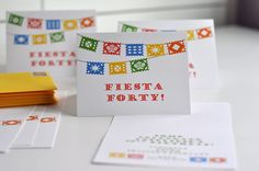 """Aesthetic Nest: Party: """"Fiesta Forty"""" Birthday Party - would be really neat to do the pinata cookies I pinned earlier! Forty Birthday, 40th Birthday Cakes, Adult Birthday Party, 40th Birthday Parties, Birthday Celebration, Birthday Invitations, Birthday Ideas, Invites, Birthday Cookies"""