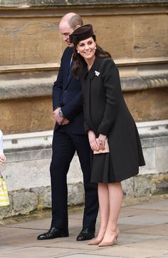 Happy Easter From the Royals! Prince William and Pregnant Kate Step Out for Church Services