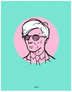 Andy Warhol #andy #warhol #illustration #portrait #artist