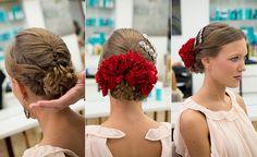 Cómo poner las flores para el traje de flamenca: detrás