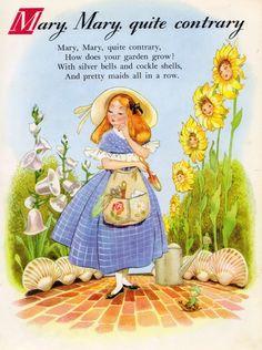 Nursery Rhyme Land illustrated by Hilda Boswell
