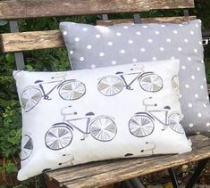 Bike Cushion for Him Handmade Vintage Style Decorative Bike Pillow for Den Bike Cover Ideal Home Free Delivery Two Ugly Sisters Grey Tote Bags, Fabric Storage Baskets, Grey Room, Simple Shapes, Home Decor Accessories, Bunting, Sisters, England, Cushions