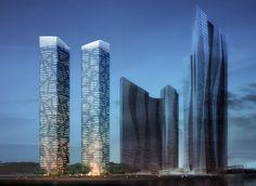 Tianxin Twin Towers – Chengdu (CN) - MLA+ | Architecture, Urbanism & Related…