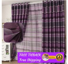 Blackout Plum Purple Drape curtains CustomMade Room Black Eyelet Pleated sheer,  For more information visit us at http://www.tdcurtainpartners.com.au