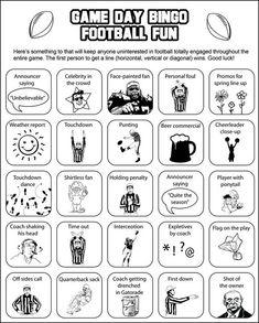 Super bowl bingo - keep everyone having fun.
