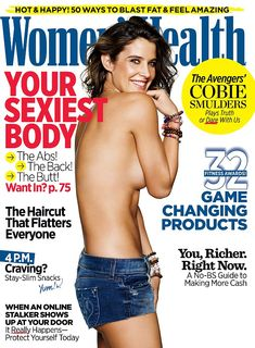 Strong: Cobie Smulders revealed her battle with cancer and how she overcame it in her 2015 cover shoot for Women's Health, where she posed topless