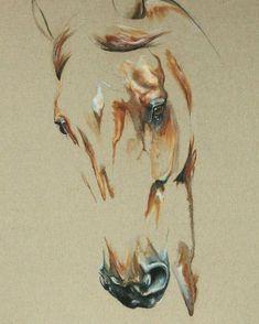 2017/03/12 Pintura al óleo :Laetita P. #horses #caballos