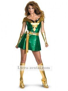 Shiny Jean Grey Phoenix Superhero Costume