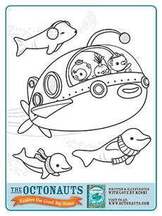 lots of octonauts printables -- make a coloring book?