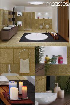 Si el baño del hogar no cuenta con entradas de luz natural, es aconsejable que tenga revestimientos en tonos cálidos.