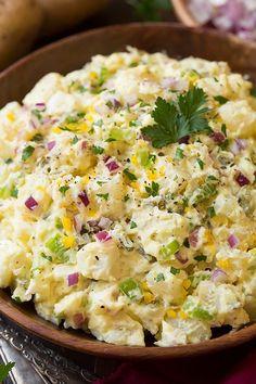 Creamy Potato Salad - Cooking Classy - Recipes to Cook -Classic Creamy Potato Salad - Cooking Classy - Recipes to Cook - Potato Salad With Apples, Best Potato Salad Recipe, Creamy Potato Salad, Easy Salad Recipes, Quick Recipes, Potato Recipes, Cooking Recipes, Kraft Recipes, Old Fashioned Potato Salad