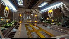 Overwatch Sci-fi Corridor by AlphaPrimeSaviour on DeviantArt