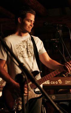 Chris Pine playing guitar