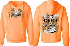 """Dirt on My Diamonds"" Dirt Late Model Racing V-Neck Hoodie Like this."