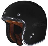 "Torc Lucky 13 ""Tank"" Helmet in Flat Black Open Face Motorcycle Helmets, Open Face Helmets, Motorcycle Gear, Bicycle Helmet, Riding Helmets, Old School Motorcycles, Black Flats, Motorbikes, Classic"