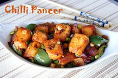 Chilli Paneer is a wonderful appetizer from the Indo Chinese cuisine. Soft Paneer cooked in the best of Indo Chinese sauces and flavors.