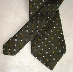 Hugo Boss Necktie Black Label Silk Couture Woven Sage Green Raised Gold Square Classic Luxury Designer Mens Holiday Formal Casual Gift Tie by MushkaVintage3 on Etsy