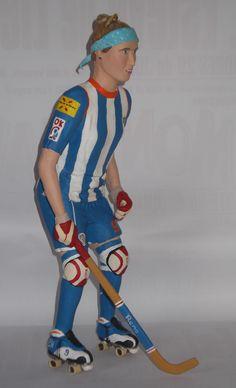 jugadora de hokey. anna bartoll http://figurespapermaixe.blogspot.com.es