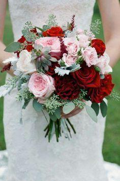 Christmas inspired wedding bouquet