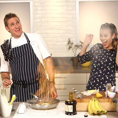 """Bring your appetite and lighter and check out this """"Up in Flames"""" Bananas Flambé, inspired by Bluth's Banana Stand on Arrested Development. Ice Cream Freeze, Lemon Ice Cream, Banana Foster Recipe, Banana Dessert, Popsugar Food, Cooking Videos, Fresh Lemon Juice, Food Print, Gourmet"""
