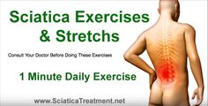 The Best Exercise to Cure Sciatica and to Relief the Sciatica Nerve Pain Sciatica Pain Relief, Back Pain Relief, Sciatic Pain, Sciatic Nerve Exercises, Back Pain Exercises, Stretching Exercises, Stretches, How To Relieve Sciatica, Sciatica Cure