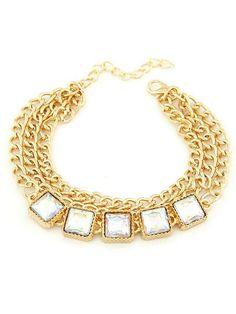 Shining Metallic Layers Charm Bracelets