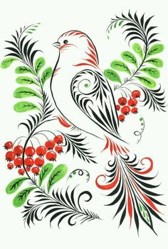 1 million+ Stunning Free Images to Use Anywhere Russian Folk Art, Ukrainian Art, Russian Style, Quilling Patterns, Quilling Designs, Tole Painting, Fabric Painting, Folk Embroidery, Embroidery Patterns