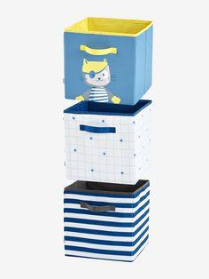 """3er-Set Aufbewahrungsboxen """"Navy"""" von Vertbaudet in blau/grau/weiß - Nur € 2,95 Versand! Dekoration & Aufbewahrung jetzt bei Vertbaudet bestellen!"""