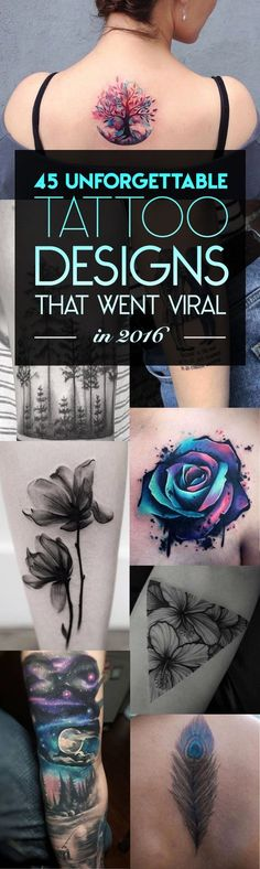 45 Unforgettable Tattoo Designs That Went Viral in 2016 | TattooBlend