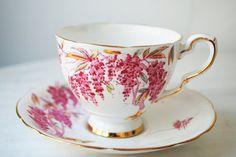 Royal Stafford Wistaria Teacup and Saucer by PinkDahliaStudio, $20.00