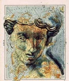 Atlas art by Fernando Vicente. #map art #art