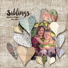Siblings Digital Scrapbook Layout by Clikchic Designs