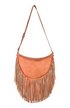 Urban Originals Fringe Faux Leather Shoulder Bag